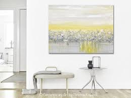 Contemporary Art Home Decor Giclee Print Art Yellow Grey Abstract Painting Modern Coastal Wall