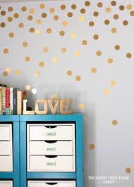 diy gold polka dot wall the homes i have made gold dot wall 011 jpg