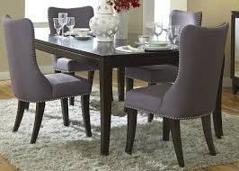 grey fabric dining room chairs home design