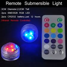 small led lights with remote 20pieces lot kitosun remote submersible triple led floral tea