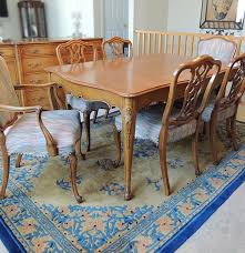 French Provincial Dining Table by Weiman French Provincial Dining Table And Six Chairs Ebth
