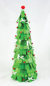 fringed paper christmas tree