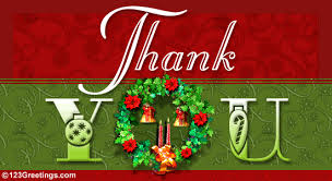 christmas thank you cards thank you free thank you ecards greeting cards 123 greetings