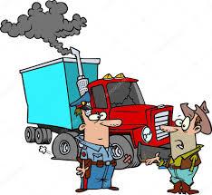 cartoon trucker break down u2014 stock vector ronleishman 13951118