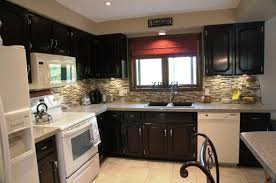 dark wood kitchen cabinets with white appliances kitchen cabinet