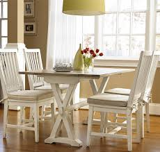 Coastal Dining Room Ideas Coastal Beach White Drop Leaf Kitchen Console Table Zin Home