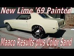 maaco paint results new shine for the new lime 1969 mustang