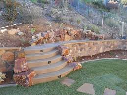 Pictures Of Retaining Wall Ideas by Backyard Retaining Wall Designs Retaining And Landscape Wall
