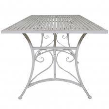 Deck Coffee Table - titan outdoor rustic white metal coffee table porch patio garden