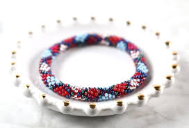 glass beaded bracelet images Nepal glass beaded bracelets blues hipster row JPG