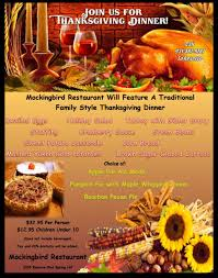 thanksgiving the mockingbird restaurant hill tn