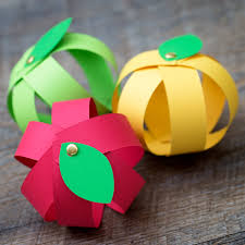 easy paper strip apple craft for kids paper strips apples and