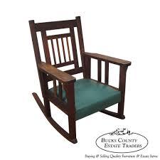 Oak Rocking Chair Uk Antique Mission Oak Stickley Style Rocker Rocking Chair By Larkin