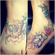 rose larkspur gladiola chrysanthemum tattoo by bridget u2026 flickr