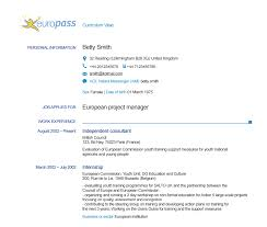 resume and cv samples home europass