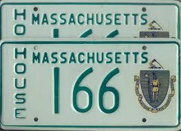 House Plate Massachusetts House Of Representatives