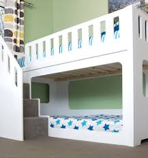 Bunk Beds With Slide And Stairs Deluxe Funtime Bunk Bed Stairs Front Shorty Bunk Beds