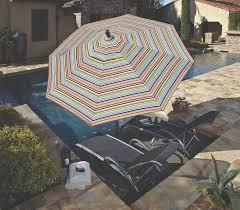 Striped Patio Umbrella Made In The Shade Patio Umbrellas By Treasure Garden