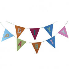 party banner diy party banner pennant sticker festival party supplies