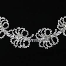online buy wholesale diamante trimming from china diamante 1yard clear silver rhinestone cup chain diamante trim for garment accessory china