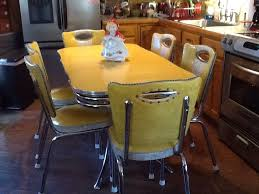 retro yellow kitchen table vintage yellow chrome and formica spartan table and 6 chairs
