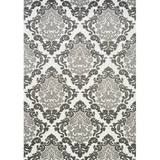 ophelia co anara ornamental white gray area rug