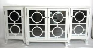 mirrored buffet white entertainment storage si