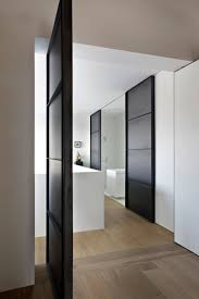 Sliding Bathroom Door by Architecture White Bathroom Refurbished Home In Amsterdam By