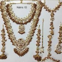 3 line moti haar bharatanatyam jewelry set bridal jewelery set