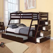 Wooden Bunk Bed With Stairs Bunk Beds Stairs White Hardwood Bunk