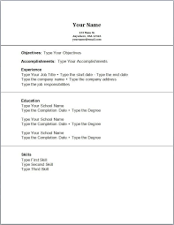 Resume No Experience Template Resume For Students With No Experience Template