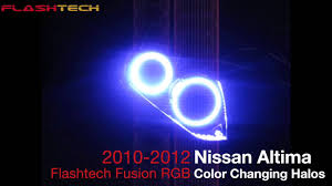 2010 nissan altima coupe youtube nissan altima coupe flashtech v 3 fusion colorshift led halo