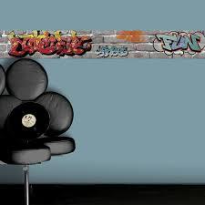 frise pour chambre frise vinyle adhésive tag l 5 m x l 15 cm leroy merlin