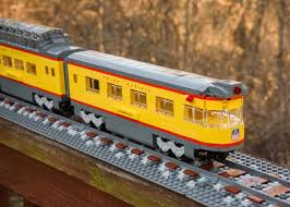 lego custom train union pacific locomotive b unit and passenger