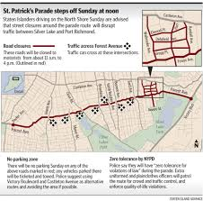 Giants Parade Route Map by Staten Island U0027s St Patrick U0027s Parade Set For Sunday First Time In