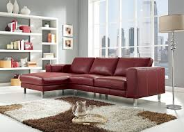 Sectional Chaise Anika Leather Sectional Sofa In Red Color By Creative Furniture