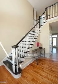 Entry Foyer Elegant Entry Foyer White Black Staircase Wide Angle Home Interior