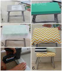 upholstered foot stool a diy tutorial