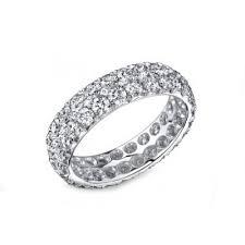 diamond wedding band for two row 3ctw pave diamond wedding band