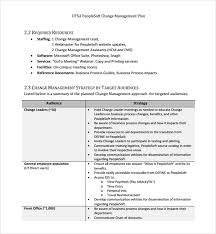 sample change management plan template 9 free documents in pdf