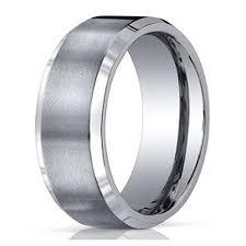 benchmark wedding bands men s benchmark titanium wedding band with satin finish and
