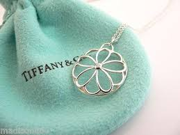 flower tiffany necklace images Tiffany co silver flower garden diamond necklace pendant chain jpeg