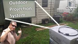 it u0027s projector time again outdoor projection system youtube