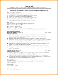 Example Of Paralegal Resume by 8 Sample Paralegal Resume Affidavit Letter