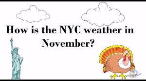 weather in new york city in november