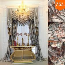 Light Silver Curtains New Free Shipping Luxury Drapery Light Grey Silver Color Curtain