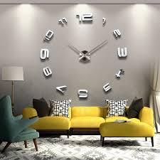 living room wall clock new large 3d digital wall clock for living room diy big creative
