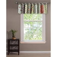 Where To Buy Window Valances Amazon Com Lush Decor Leah Room Darkening Window Curtain Valance
