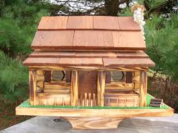 Rustic Log House Plans by Free Log Cabin Bird House Plans Log Cabin Birdhouse Better Bird