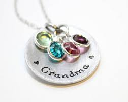 birthstone necklace for grandmother necklace etsy